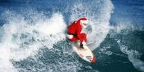 christmas-in-oz-santa-on-surfboard